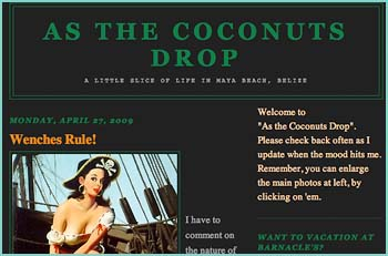 Welcome to As The Coconuts Drop, A Little Slice Of Life In Maya Beach, Belize