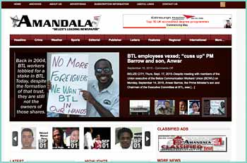 AMANDALA has been the nation's most read newspaper for Belize news since Belize's Independence in 1981. The AMANDALA is the nation's leading newspaper - a 33 year old voice of the people of Belize.