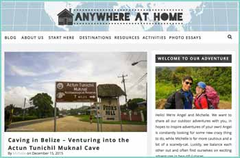 Anywhere at Home is a blog for adventurous, outdoors-y people. It's also for the not so experienced outdoors-y people who want to enjoy the outdoors, but don't know how to start. We started Anywhere at Home in 2014. We realized, no matter where we were, every time we were together we felt at home. Angel, being an outdoor enthusiast, wanted Michelle to have the same great experience with the outdoors. And Michelle had no idea where to begin. So we started going on adventures and finally started this blog. We want you to be inspired by our personal stories, pictures or videos.