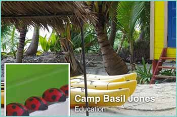 Camp Basil Jones is an Educational Center for Ocean Studies located on the Belize World Heritage Site which aims to educate school children and visitors. Near Tranquility Resort Bacalar Chito Reserve, Ambergis Caye Belize