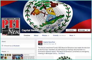Capital Newspost, your online source for information on the Caribbean jewel of Belize. Keeping you in touch with the latest news, complete with history, pictures, recipes, natural remedies, sports as well as health and fitness linked with Facebook making your experience in this melting pot memorable.