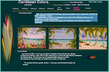 After years of traveling the Caribbean, Mexico and Belize I have created a Serenity by Sight collection. Enjoy! A collaboration of memory, imagination and colors of the Caribbean that you may recognize or merely dream about. Works sold in many locations throughout the Caribbean and collected by others worldwide.