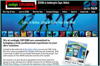 We at ecologic DIVERS are committed to bringing a truly professional experience to your dive vacation. Our dive center is equipped for all types of diving and snorkeling. We can handle individuals or private groups. Our staff consists of Two PADI instructors and four dive masters. Our mission is to give the diver pampered service from small dive groups to early morning dives. Belize is known for it's Barrier reef and World Class fishing, so come join the experience with ecologic DIVERS.