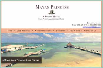 The Mayan Princess is situated on a white sand beach in the middle of San Pedro, an enchanted little town on Ambergris Caye. You can watch the sunrise from your seafront veranda and dream away the evening as the moon illuminates our incredible Barrier Reef. Take advantage of complimentary hammocks and beach lounge chairs and soak in your surroundings.