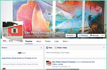 The San Pedro House Of Culture is a governmental organization. Created to preserve protect and promote cultural activities.