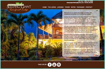 Sleeping Giant is a Belize all inclusive Rainforest Lodge at the foothills of the Sibun National Forest Reserve in Belize. Adventure tours in the wilderness and naturalist activities are available. Contact us today to arrange your accommodations and tours at our Belize all inclusive jungle lodge.