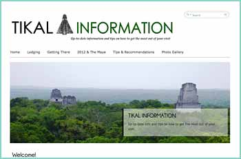 Tikal National Park is located within the 6,000 square miles Maya Biosphere in the northern part of Pet�n, Guatemala. The park is located 63 Kms from�Flores with paved road access, from Guatemala City a 7 hr drive.� Flores is the governing city of Pet�n the northern state or department of Guatemala. Most tours to Tikal start from Flores or El Remate village which is located half way between Flores and Tikal ruins. There is no Tikal town and no stores for shopping other than souvenirs. The Ruins area contains about 24 sq. kms. About 80% of the structures are still unexcavated. Only 40 per cent of the ruins within the park have been mapped. There are 220 square miles of jungle all around the ceremonial center.�Tikal National Park is Open everyday from 6:00 am. - 6:00 pm.