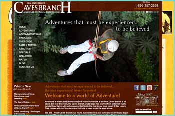 Welcome to the unforgettable world of the Belize jungle and the adventure of a lifetime. Share with us our privately owned 58,000 acre Caves Branch Estate, beneath a 100 foot rainforest canopy, alongside the turquoise waters of the Caves Branch river. Discover the beauty and excitement found in the tropical jungle and the caves of Belize. Encounter indigenous animals and plant life and the many relics of Belize's ancient Mayan past.
