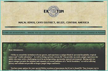 Ek' Tun provides an exotic, jungle experience for adults who enjoy active, challenging travel in an invigorating, spectacular natural environment.  Having only two guest cottages permits the intimate and romantic yet casual ambiance of a bed & breakfast, as well as offering privacy and solitude not possible at larger jungle lodges and hotels. Your experience here is guaranteed to be an experience as unique as YOU are ....  an experience worth coming all the way to Belize for.