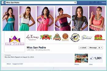 Miss San Pedro Pageant on August 31, 2013. Selection of La Isla Bonita Goodwill Ambassador