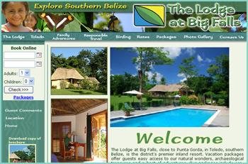 The Lodge at Big Falls, close to Punta Gorda, in Toledo, southern Belize, is the district's premier inland resort. Vacation packages offer guests easy access to our natural wonders, archaeological treasures and a host of adventures. Our packages include eco-tours which will introduce you to the local Mayan people and culture, Mayan archaeology and the natural history of the area.