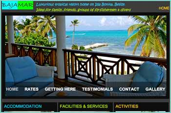 BAJAMAR House & Suites provide a five bedroom / five bathroom �home away from home� with freshwater swimming pool, air-conditioned rooms and all modern sophisticated conveniences that you might expect from �high-end� tourism comforts. It is ideal accommodation for couples, families and friends looking for relaxation and a base from which to explore the wonders of Belize. It is also well suited for groups of fly fishermen in search of the bonefish and permit that prowl the saltwater flats immediately in front of the house and tarpon in the nearby lagoons and Savannah flats or divers  wanting to explore the wealth of spectacular sea life so close at hand.
