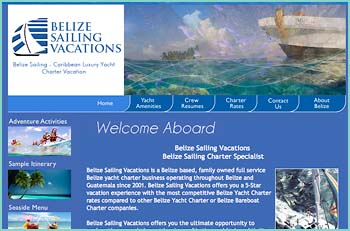 Belize Sailing Vacations is a Belize based, family owned full service Belize yacht charter business operating throughout Belize and Guatemala since 2001. Belize Sailing Vacations offers you the ultimate opportunity to explore the second – largest barrier reef in the world, aboard Mojito, your private luxury 44 foot crewed catamaran. Imagine a Belize sailboat vacation where you sail to a sandy palm studded beach or explore the amazing under-water world of the barrier reef. A Belize sailing vacation takes you to some of the world's best snorkeling, scuba diving, fishing, and kayaking sites.