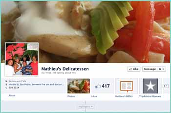 Mathieus Delicatessen is a San Pedro based catering, food delivery and retail business specializing in freshly hand prepared ready meals, breads, pastries and beverages. Gunter Mathieu, a chef with over 30 years experience working in and managing restaurants and food businesses is the owner and chef at Mathieus Delicatessen. His partner Anna Williams is a marketing professional, and both have been living in Belize for several years.