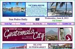 BELIZE'S ONLY DAILY- SEVEN DAYS A WEEK - A daily synopsis of the news and activities related to Ambergris Caye off the coast of  Belize, Central America. Classified ads online, and a daily weather report for the islands of Belize. Also see our  Photo of the day from La Isla Bonita