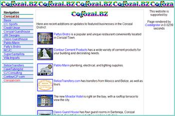 Featuring restaurants, hotels, and businesses in the Corozal area. Sister site to Corozal.com