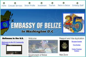 Welcome to the official website of the Embassy of Belize, Passport Section, Visa Section, Cruise Tourism Visitors, Belize Government, Foreign Affairs